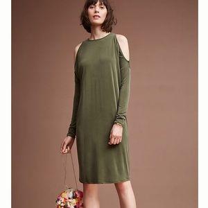 Eli + Ari Annalyn Cocoon Olive Green Dress Size L